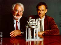 Binning and Rohrer with their Nobel prize