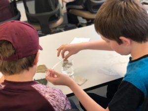 Local students perform a MRSEC field trip experiment