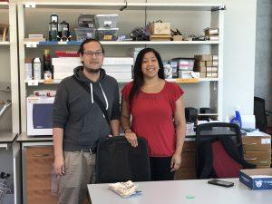 Jessica Fleischmann and her mentor Patrick Strohbeen