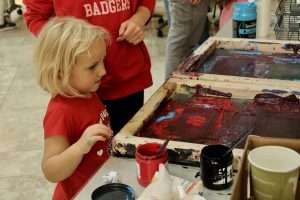 Screen printing at the Science Festival