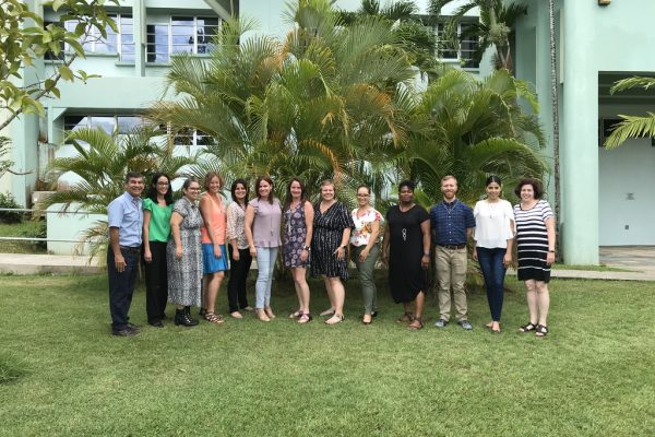 The RET cohort of 2019 poses at the University of Puerto Rico Mayaguez during capstone week.