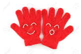 Two gloves are displayed to show that they are not superimposable